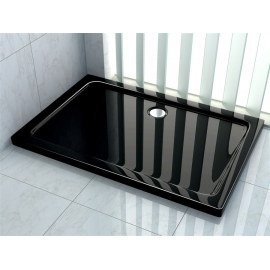 Bassin de douche Ultra Slim Black