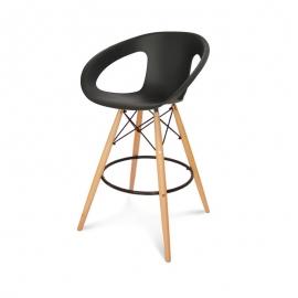 Chaise de bar Apori 232H pieds en bois