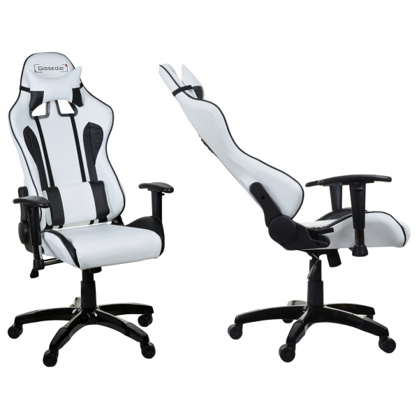 chaise de bureau racer blanc gamer apori sp z o o. Black Bedroom Furniture Sets. Home Design Ideas