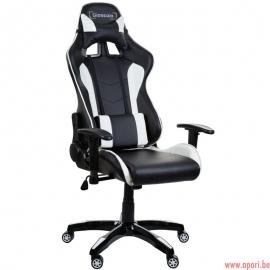 Chaise de bureau (gamer) Racer Black&white