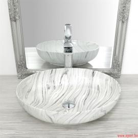 Vasque en céramique CAROLA GREY SLIM