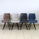 Chaise rembourrée éco-cuir H063