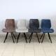 Chaise rembourrée éco-cuir vintage H063