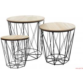 Un ensemble de trois tables twins round