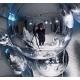 Lampe en verre chrome 20cm