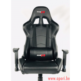 Chaise de bureau GAMER GTR BLACK - FULL MOVEMENT