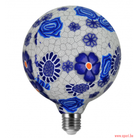 Ampoule décorative à 360 ° FOLK BLEU LED G125 E27, 4W, 1900K filament