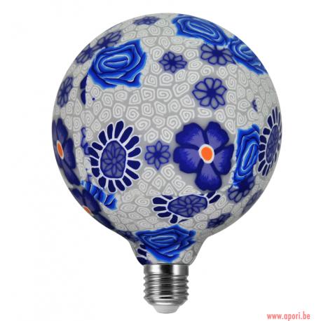 Ampoule décorative à 360 ° FOLK BLEU LED G125 E27, 4W, 1900K filament