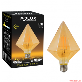 Ampoule LED décorative 360 ° Ambre DIAMOND B Z110 E27 450lm 4W, 2700K filament