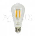 Ampoule décorative à 360 ° LED ST64 E27 1055lm, 7,5W, filament 3000K