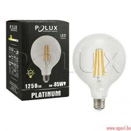 Ampoule LED décorative 360 ° G125 E27 1250lm, 8W, filament 3000K