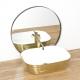 Vasque en céramique FLORIA GOLD/WHITE