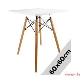 Table carré STELLA BIANCO 60x60cm