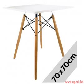 Table carré STELLA BIANCO 70x70