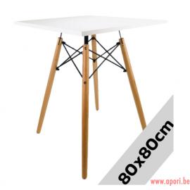 Table carré STELLA BIANCO 80x80
