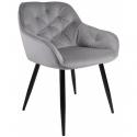 Fauteuil Dankor Design Velve gris