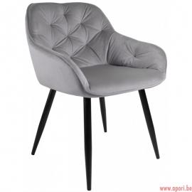 Fauteuil Dankor Design Velv gris