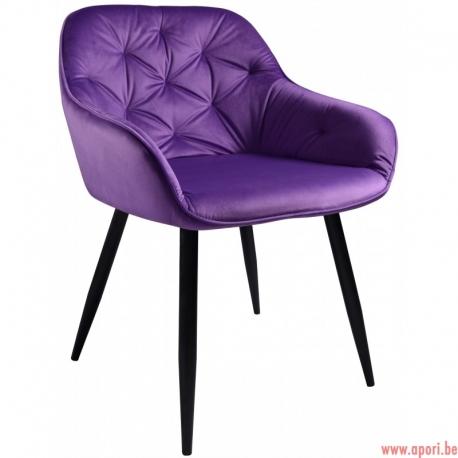 Fauteuil Dankor Design Velv violet