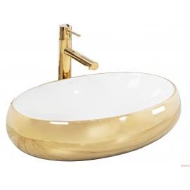 Lavabo Melania Gold / White