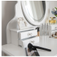 Coiffeuse blanche 80cm LED + tabouret NOUVEAU