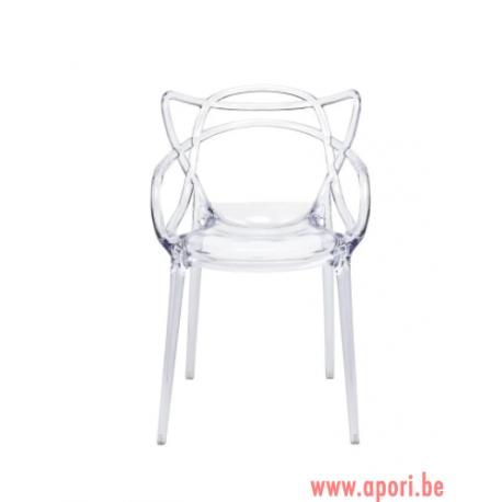 Chaise Aspen transparente