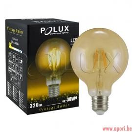 Lampe LED décorative Vintage Amber G95 E27 320lm, 4W, 2200K