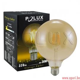 Lampe LED décorative Vintage Amber G125 E27 320lm, 4W, 2200K