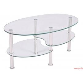 Table basse en verre CT-001 CLAIR