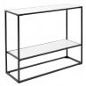 Table console 72X90 blanche avec des étagères KW-PH19033
