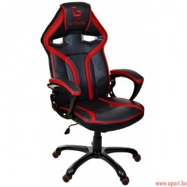 Chaise de bureau GIOSEDIO noir et rouge, modèle GPR041