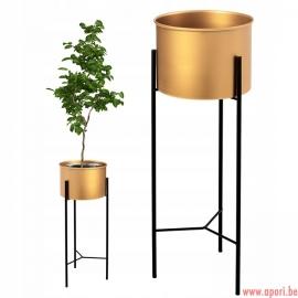 Pot de fleur en métal en OR 60CM / 50CM / 40CM