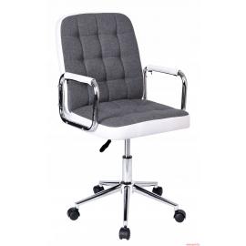 Chaise de bureau blanche et grise Karlos