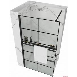 Paroi de douche BLER-1 avec étagère et support Evo