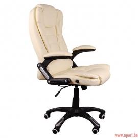 Fauteuil de bureau BRUNO beige avec massage BSB/005M