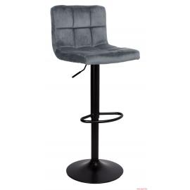 Chaise de bar AZARA velours/graphite