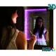 Miroir LED 3D 70x50 PILOTE RGB