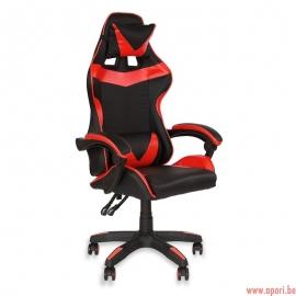 Chaise de bureau en éco-cuir L810B-R