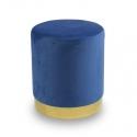 Pouf en velours bleu UC3013G