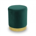 Pouf en velours vert UC3013G