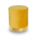 Pouf en velours jaune UC3013G