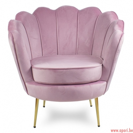 Fauteuil coquillage rose F101