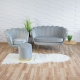 Fauteuil coquillage gris F101