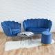 Fauteuil coquillage bleu F101