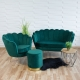 Fauteuil coquillage vert F101