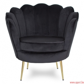 Fauteuil coquillage noir F101