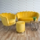 Fauteuil coquillage jaune F101